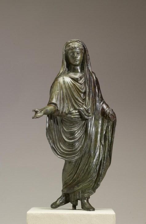 A senator in his toga, a sign of Roman citizenship