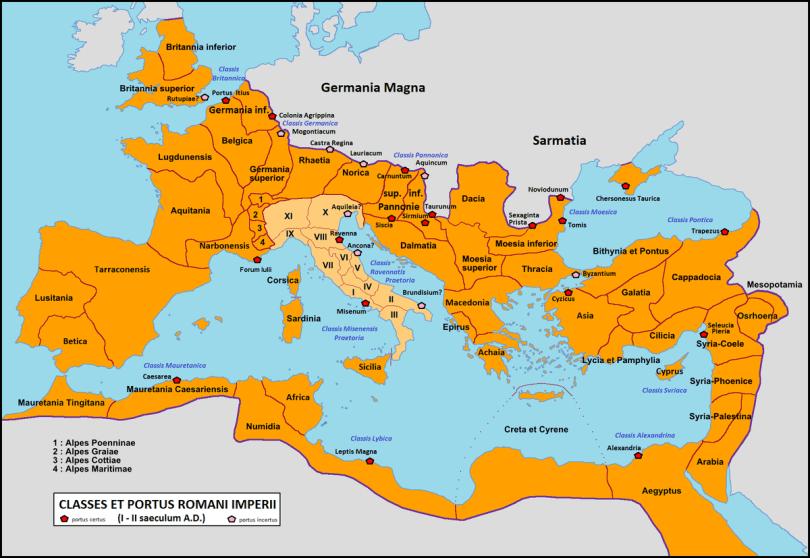 map Roman fleets