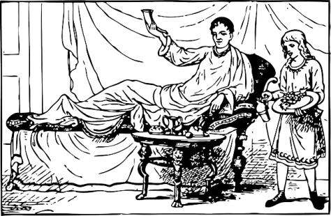 Reclining Roman diner