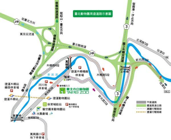 木柵動物園停車場地圖