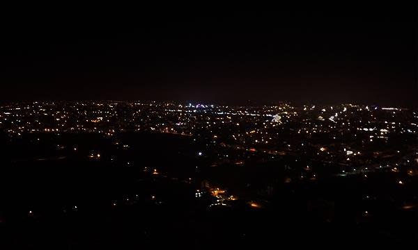 楓林步道觀景台夜景