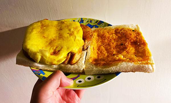 蕉ㄚ吐司 炸薯蛋三明治