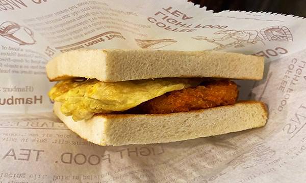 薯餅蛋三明治