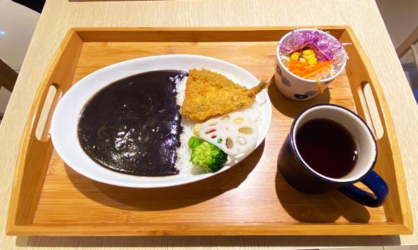 炸竹筴魚黑咖哩飯
