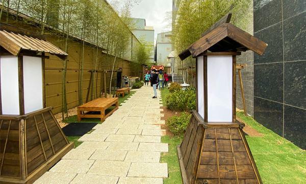 戶外庭院的日式風格道路