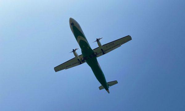 在新生公園看到立榮的飛機