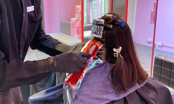 Wor hair桃園店 染髮隔離