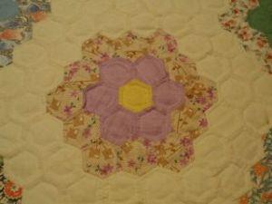 Grandma's Garden quilt detail