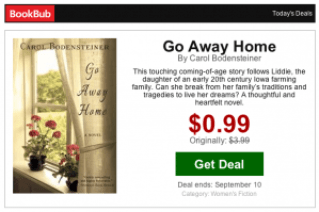 Go Away Home - BookBub Promotion