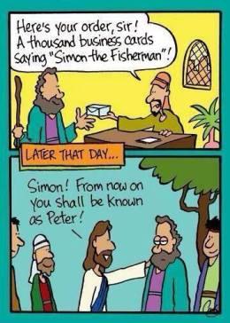 Simon or Peter Cartoon