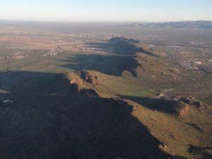 Light and dark shadows on the mountain range.