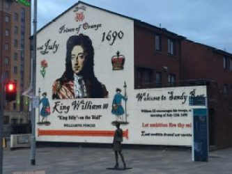 A Protestant, King William of Orange and his victory at the Battle of the Boyne are still celebrated by Irish Protestants.