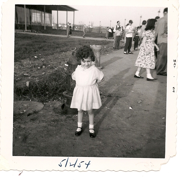 I was three, and I think we were meeting my Dad who was home on leave from Korean War service
