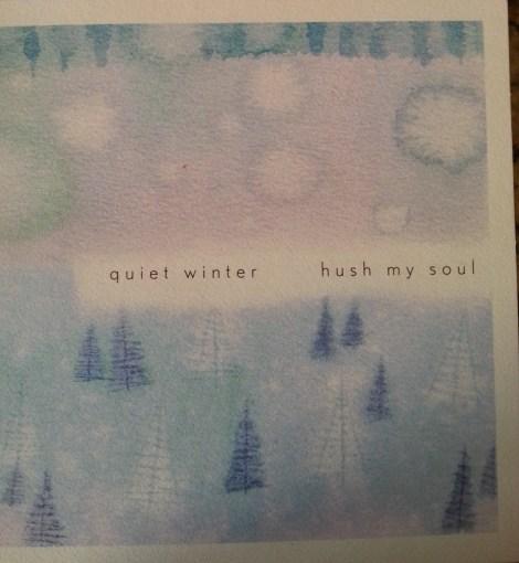 quiet winter hush my soul