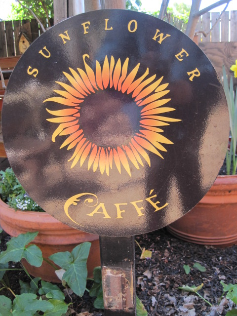 sunflower caffe sign