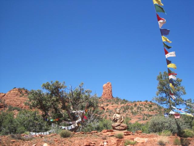 Buddha at stupa long