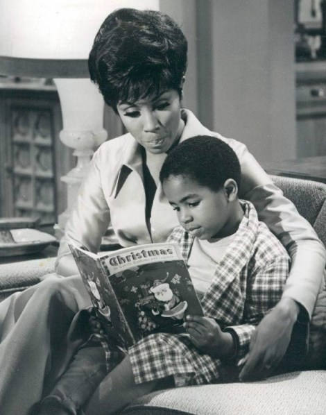 Diahann Carroll as Julia in 1969, the first black woman to star in her own series.