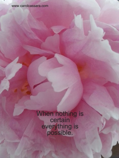 When nothing is certain