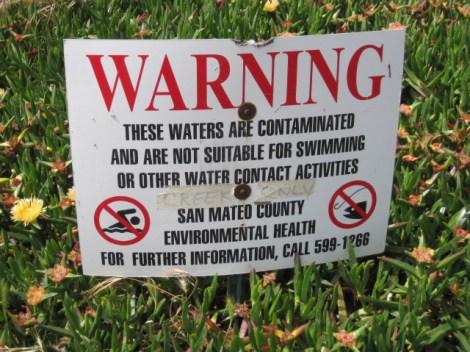 Warning contam