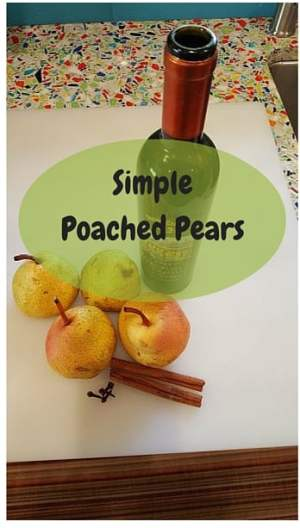 Easy poached pears in wine