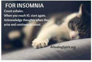 For insomnia