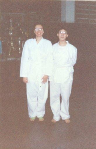 Primeiro dia no karatê - 1996