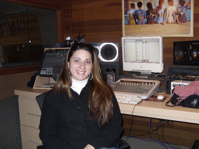 No estúdio
