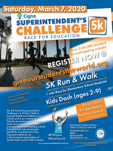 Superintendent's 5K Run/Walk Challenge-Race for Education @ Maurice A. Ferré Park