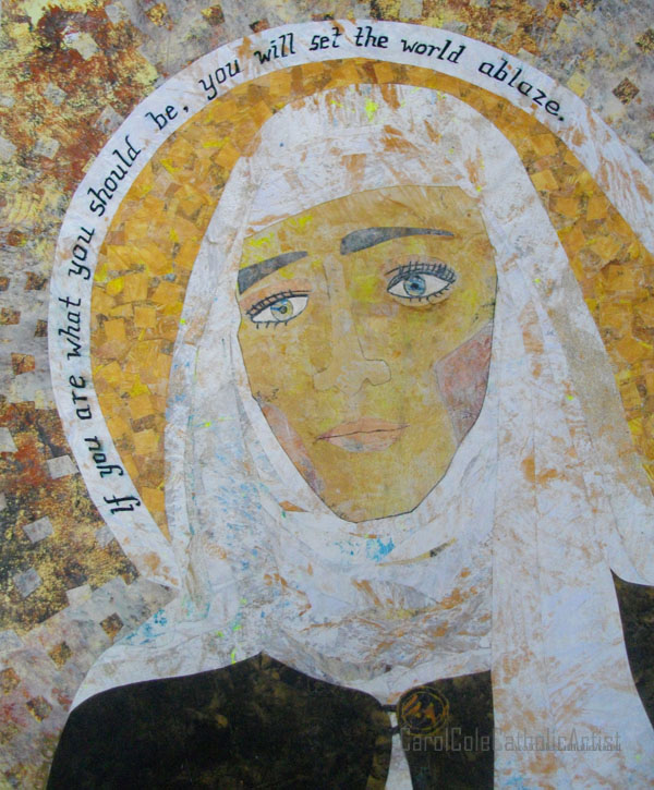 saint catherine of siena artist carl cole