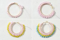 DIY Hoop Earrings with Seed Beads & Pearl beads - Carol's ...