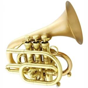 "CarolBrass CPT-7000-GLS-Bb ""Dizzy"" Pocket Trumpet"