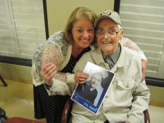 my dad in Three Rivers Nursing Home while I was writing his biography. It was a fun project for us