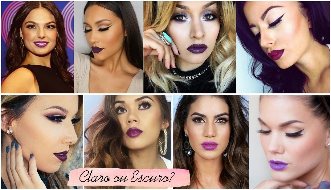 batom roxo como usar purple lipstick