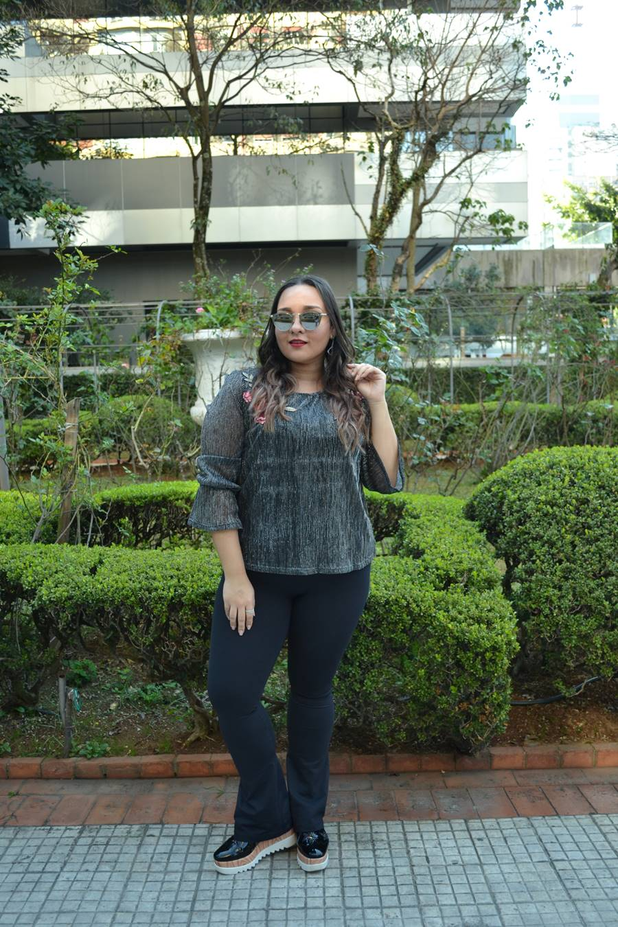 look do dia brilho glam bordado Carol Doria
