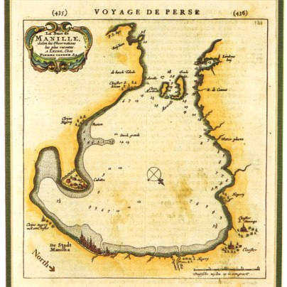 Spanish Map showing the island at the mouth of Manila Bay