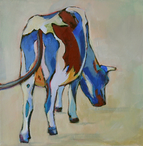 painting of abstracted cow
