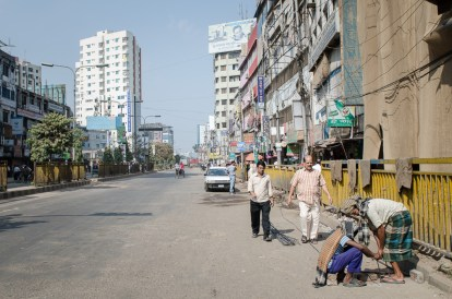 Die Strassen sind an Hartaltagen wie leergefegt.