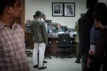 Ein verbotenes Bild: Der Professors für Journalismus duldet keine Kamera in seinem Büro.