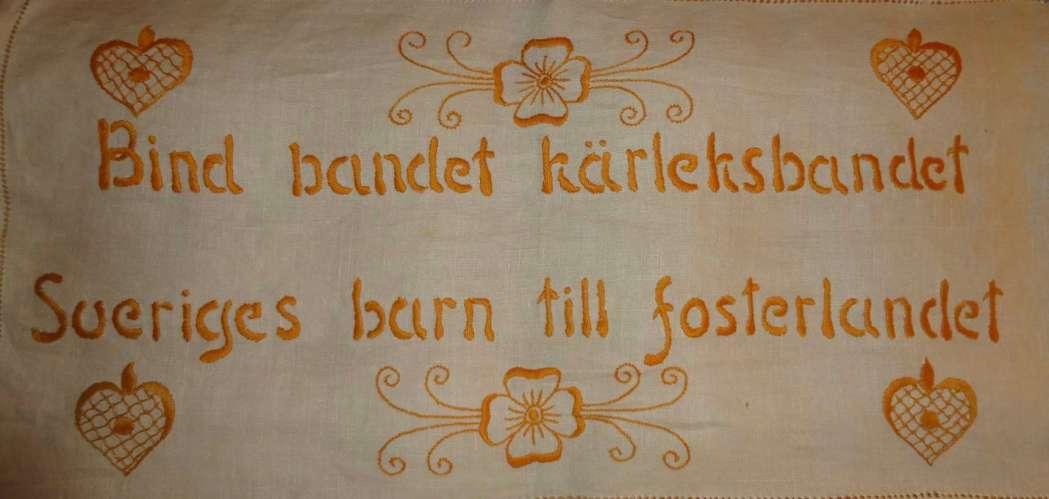 Bind bandet kärleksbandet Sveriges barn till fosterlandet