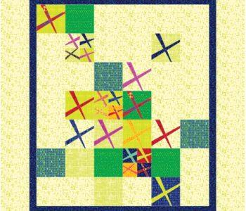 Same quilt in Christa Watson's Modern Marks fabric line