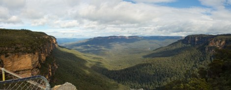 First panorama of the day..