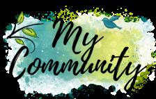 My Community decorative button