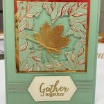 Gather Together Double Nested Leaf Card
