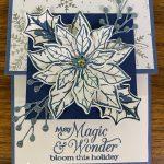 Poinsettia Petals Misty Moonlight Card