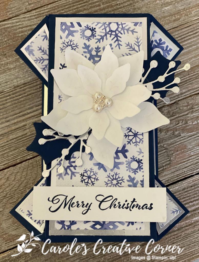 Poinsettia Petals Double Fan Fold Card