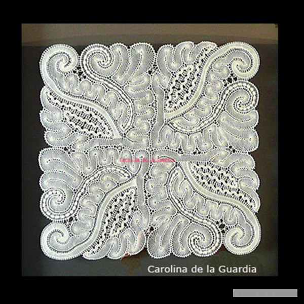 40x40 framed lace. ACP contest award