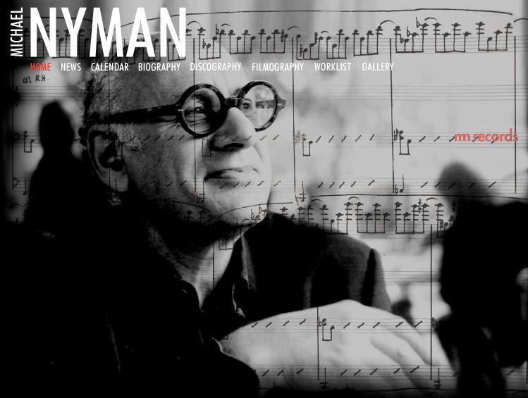 Michael Nyman website