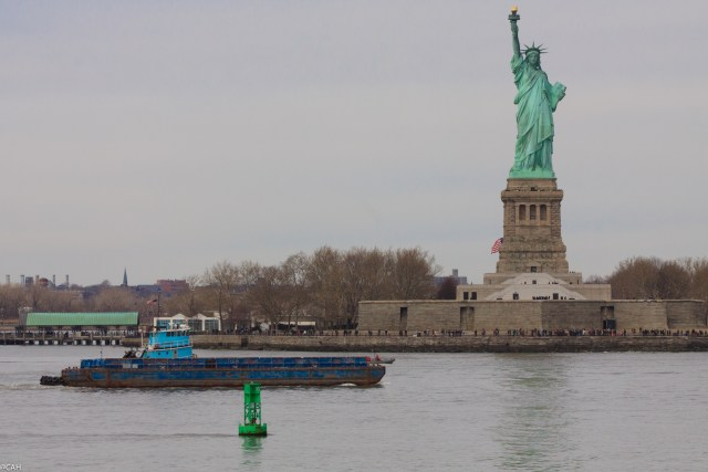 Statue of Liberty  from Staten Island Ferry  2 5 Mar 2016 (1 of 1)