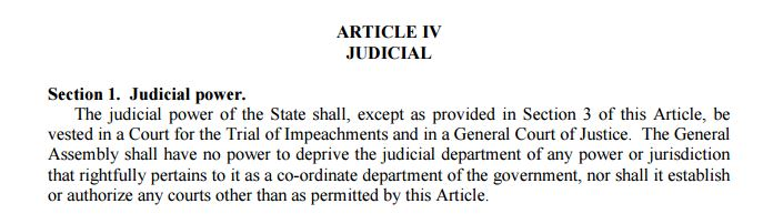 North Carolina Constitution Article IV Section 1