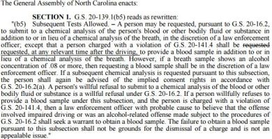 Blood Sampling Death by Vehicle Amendment 2015